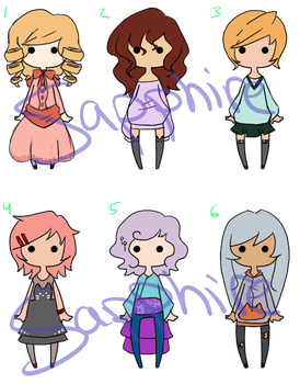 Cute Girl Adopts [Closed] by SapphireAd0pts