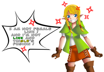 Fan Art #002 - Linkle : I'm not Female Link and... by Saikiny