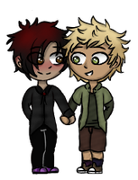 ((YCH)) Tweek and Pete by RalloAndFriends