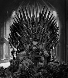 Akira on the Throne. by ScHiLLaaR