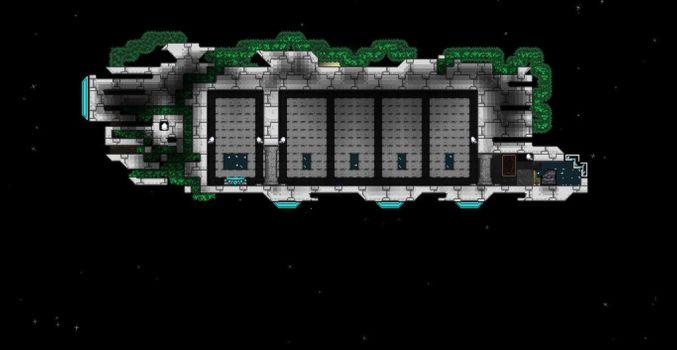 Terraria Starbound Florian Ship by XploSlime7