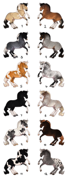 Horse Adoptables Batch - CLOSED by Anonymous-Shrew