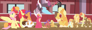Apple Family Hearths Warming by Fluffy-Fillies