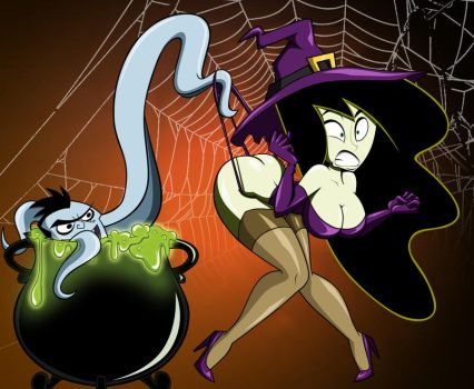 Halloween Shego: The Wedgie by grimphantom