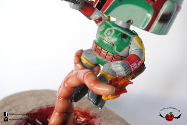 Boba Fett vs Sarlacc Pit Close Up by ApplePie-Productions