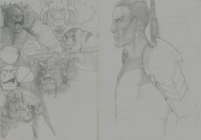 Sketches Inspired By Warhammer!! by RRJones