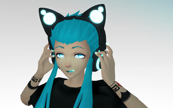 Axent Headphones for MMD by DesertDraggon