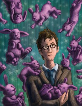 The Doctor... and BUNNIES by nebester