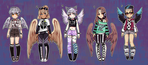 Set Price Wingy Boys (closed) by Kariosa-Adopts