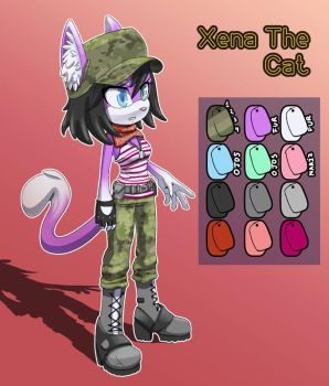 Re-design of Xena the cat by patyshad