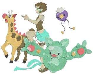 Paper Pokemon Team by harino