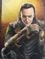 loki acrylic painting by Sandy-reaper