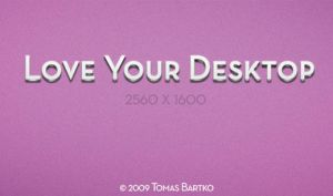 Love Your Desktop 1 by optiv-flatworms