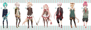 [CLOSED] Semi chibi adoptables -SET 1- [Paypal] by Piku-chan21