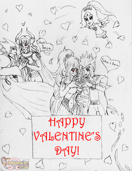 Valentine's Day Sketch! by Omnimon1996