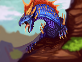 King of the mountain by Galidor-Dragon