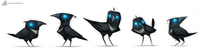 Daily Paint 778. Sidhe - Magpies by Cryptid-Creations