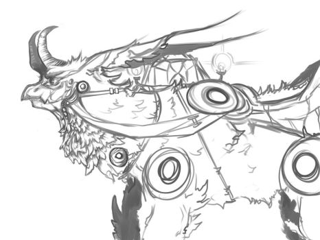 Griffin Sketch by Tsukasa-girl