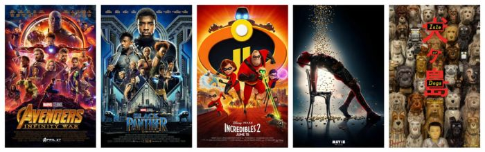 My Five Favorite Movies of 2018 so far by foxylvr2189