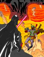 Boba Fett vs Darth Vader by DarkSunProductions