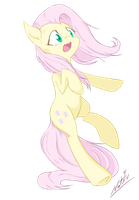 Scared Wingless Flutters by Natsu714