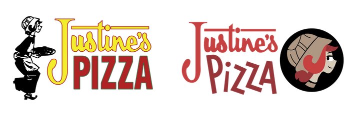 Justine's Pizza Logo Redesign by Jarvisrama99