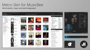Metro Skin for MusicBee Media Player by JMoss90