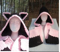 Kitty Rose Hooded Scarf Form by WwYarningCentral