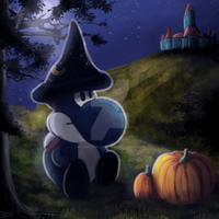 Halloween-Yoshi by RainbowPhilosopher