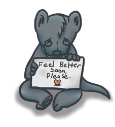 Feel better soon, please. by Cakeferdays