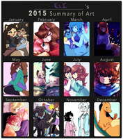 2015 Summary of Art by DragonsPurr