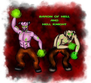 Baron Of Hell And Hell Knight by BrainLessGirl