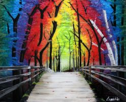 Rainbow Forest by Camelibi