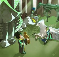 Hogwarts AU: Care of Magical Creatures (3/3) by Bella-Eis