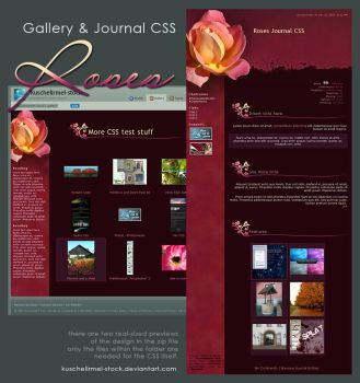 Roses Journal + Gallery CSS by kuschelirmel-stock