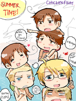 APH- Chicken Fight by teaisgood