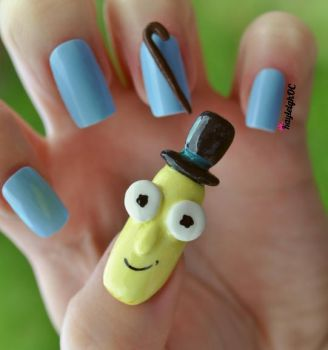 Rick and Morty Nail Art - Mr. Poopy Butthole by KayleighOC