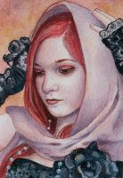 Fire Witch - ACEO by KatrinaWinter