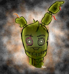 springtrap's back by Animalme