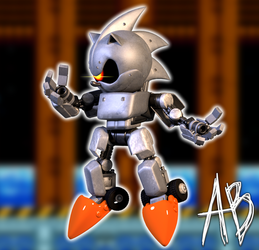 [BLENDER] SILVER SONIC by AnthonyBlender