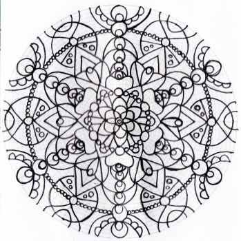 Untitled mandala 2 by Rowbs