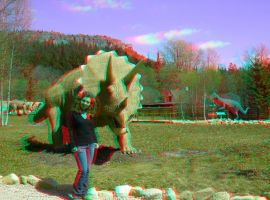 Triceratops 3D Anaglyph by yellowishhaze