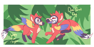 [SOLD] Dino-Parrot Doggo AUCTION by royalraptors