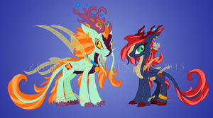 MLP:FiM Charas: Lucky Streak and Double Happiness by Zephyros-Phoenix