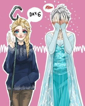 30 Day Challenge [Jelsa] Day 06 - Wearing by jipzuru
