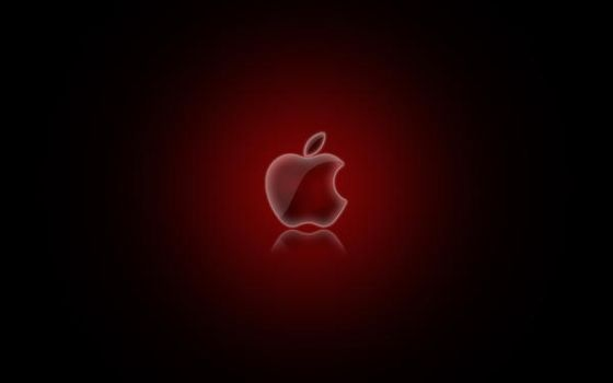 Apple Logo Wallpaper Red by CAB19
