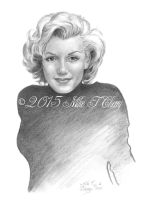 Marilyn Monroe by miketcherry