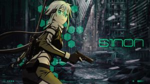 Sword Art Online Sinon - Desktop Wallpaper by Trinexz