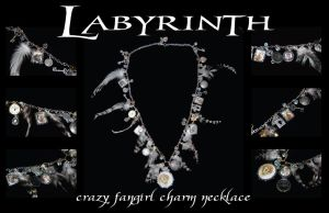 Labyrinth Charm Necklace by BelovedUnderwing