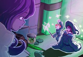 Little Witch Academia- Shrinking Spell by BarbaricTomato